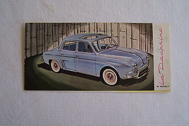 la dauphine owners sales brochure used original  1 page fold out 1959 - $19.98