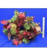 Artificial Garland Floral Décor Fall Autumn Maple Leaves Pheasant Feathe... - $14.84