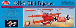 Guillow's Fokker DR-1 Triplane Balsa Wood Model Airplane Kit GUI-204 - $52.00