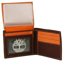 Timberland Men's Hunter Leather Waxed Canvas Credit Card ID Passcase Wallet image 6