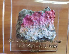 Germany Original Piece of The Berlin Wall Size S 3 cm In Acrylic Display... - $30.47