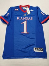 NWT Kansas Jayhawks Football Adidas Men's NCAA Premier Jersey Small New ... - $49.49