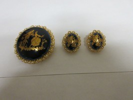 "Costume Jewelry , Vintage , Made in Limoges France , Pin 2""X2"" , Earring... - $123.75"