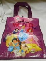 New Disney Princess Explore Your World Reusable Shopping Tote Bag home ... - $7.57