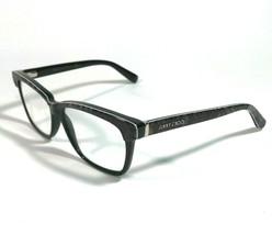 Jimmy Choo 98 6UI Eyeglass Frames Cats Eye Black Gray Faux Snakeskin 53 ... - $44.88