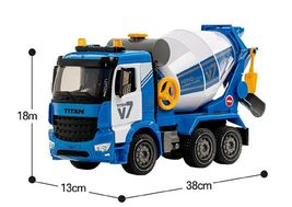 Yoowon Toys Concrete Cement Mixer Truck Car Vehicle Sound Effect Lights Play Toy image 4