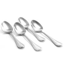 Gibson Home Graylyn 4 Piece Stainless Steel Beaded Edge Dinner Spoon Set - $20.91