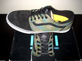 Vans Mens Trig Camo Green White Suede Canvas Skate Shoes Size 11 VN-0XE8... - $46.51