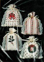 """Vintage 1984 Creative Circle 4 Christmas Bags Sacks Candlewick KIT 4"""" x 6"""" - $16.99"""