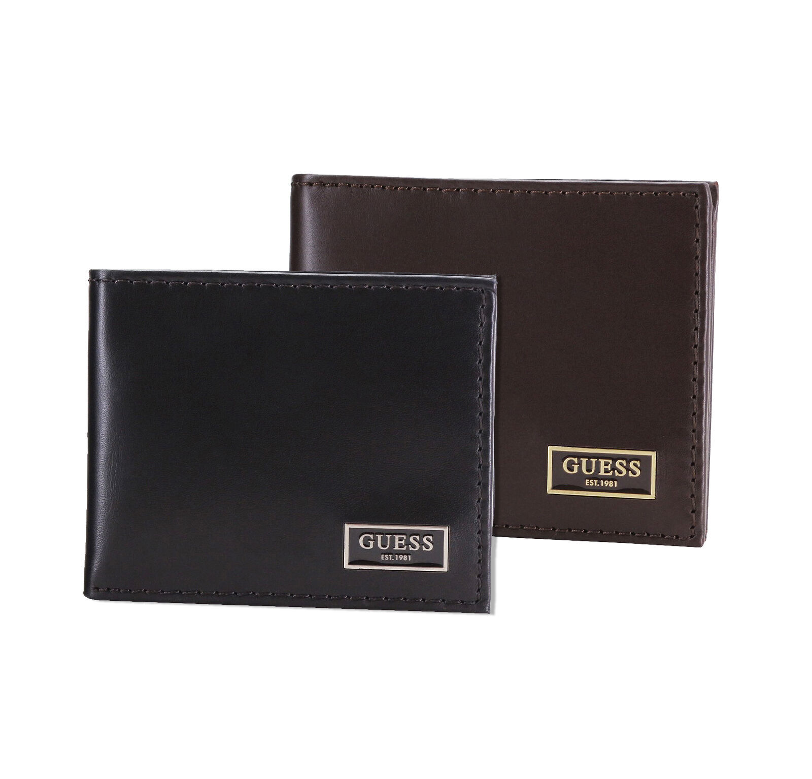 New Guess Men's Genuine Leather Credit Card ID Wallet Excap Slimfold 31GU130050