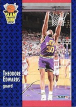Theodore Edwards ~ 1991-92 Fleer #227 ~ Jazz - $0.05