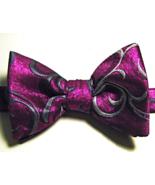 ALFANI Rich Metallic Pink Silver Geometric Bow Tie Pre Tied - $29.99