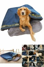 Coral Fleece Dog Bed Pet Blanket Folding Dog House Sleeping Bag Size Small - $25.91