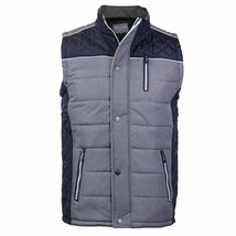 Holstark Men's Zip Up Multi Pocket Insulated Fleece Lined Two Tone Athletic Vest image 9