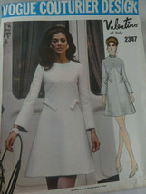 Vogue Couturier Design 2347 Valentino of Italy sz 16 UNCUT 1970 with Tag... - $38.60