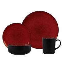 Novabella 16 pc Dinnerware Set, Burgundy - $95.83