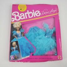 Vintage 1989 Barbie Dance Magic Fashion #7392 Blue Ballgown Disco Dress - $49.45