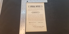 1900s Consolidated Leaf Co Flyer For Diamond C Cigar Wholesale Price She... - $17.38