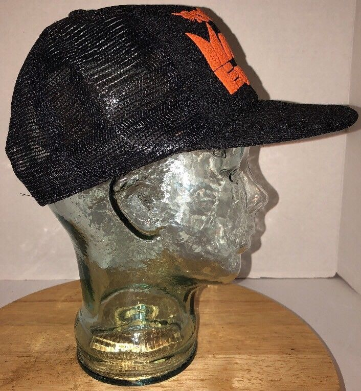 994c45a2ed5 Vintage BOBCAT Maier EQUIP CO INC 80s Black Trucker Hat Snapback Made in USA