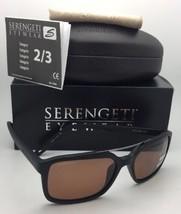 Serengeti Photochromique Polarisé Soleil Renzo 8624 Pot Noir Cadre W/Driver - $219.52