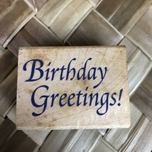 Stampcraft Happy Birthday Greetings 440E01 Classic C9 Rubber Stamp - $9.89