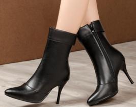 9AB9b154 Trending Martin Booties, slim & high heels, size 2-12, black - $79.99