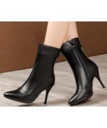 9AB9b154 Trending Martin Booties, slim & high heels, size 2-12, black - $62.80