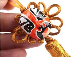 2 Pieces Of Creative Car Ornaments Chinese Knot Pendant, Deep Yellow