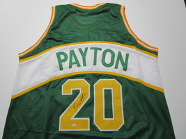 GARY PAYTON / NBA HALL OF FAME / AUTOGRAPHED SEATTLE SUPERSONICS CUSTOM JERSEY image 1