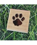 Stampendous Paw Rubber Stamp A060 Wooden Mounted Dog Cat Pet Print 1998 - $8.90
