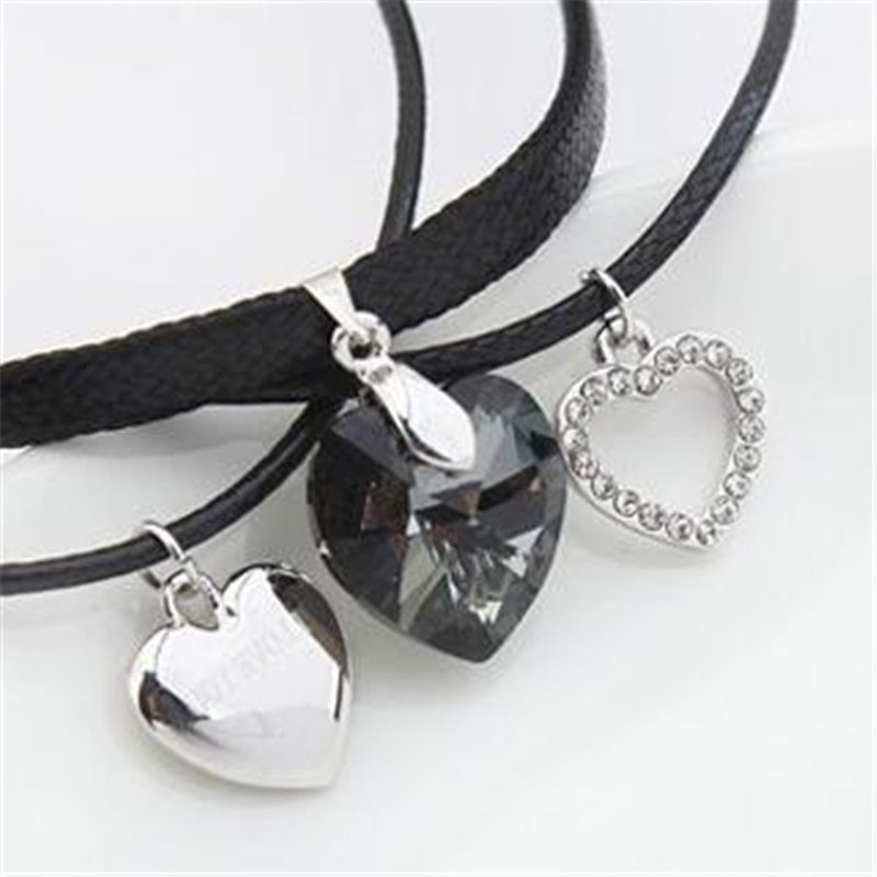 SHDEDE Fashion Jewelry Necklaces Pendants Vintage Heart Crystal from Swarovski H image 6