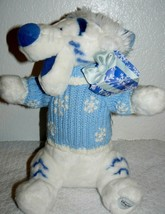 "Disney Store Tigger Winter Blue White Stuffed Plush 14"" - $21.78"