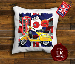 Vespa Scooter Cushion Cover, Vespa, Union Jack, Mod, Target, Cushion - $9.01+