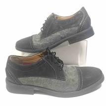 Clarks Collection Mens 8 M Garren Cap Toe Oxford Shoes Black Gray Lace U... - €39,03 EUR