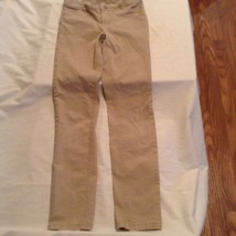 Justice pants Size 12 Slim super skinny simply low khaki uniform pants g... - $15.99