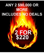 FRI-SUN PICK 2 $90,000 OR MORE FOR $220 INCLUDES NO DEALS MYSTICAL TREAS... - $0.00