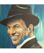 Stephen Fishwick Frank Sinatra Blue Eyes Signed Giclee On Canvas NICE! - $85.00