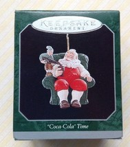 "Vintage Hallmark Keepsake Miniature Ornament: ""Coca-Cola"" Time Snata 1998 - $16.78"