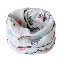 2PCS Scarves Warm Cotton Neckerchiefs Creative Fashionable Design Great Gifts
