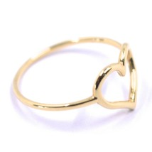 SOLID 18K ROSE GOLD HEART LOVE RING, 10mm DIAMETER HEART CENTRAL MADE IN ITALY image 2