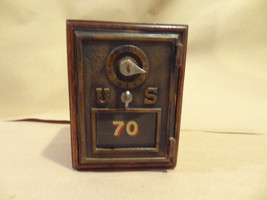 VINTAGE US WOODEN POST OFFICE BOX POSTAL  BANK #70 GLASS  W/ CODE OPENS  - $39.99