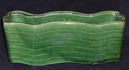 McCoy Planter Green Stripe 8 x 4 x 3.25 inch Vintage - $39.95