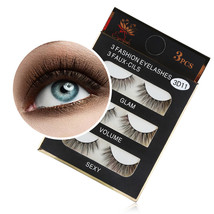 BAHYHAQ - 1 Box Luxury 3D Thick Fur False Eye Lashes Fluffy Strip Hand-made - $3.50