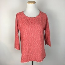 Gap Women's Pullover Neon Piped Sweater in Vermillion Red Size Small - $14.84