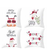 Christmas pillow cover,18×18,Santa Claus throw pillowcase,decor cushon c... - $31.99