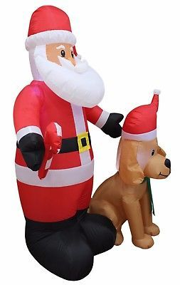 5 Foot Christmas Inflatable Dog Puppy Lighted Used Yard Decoration