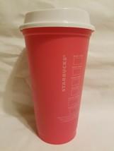 Starbucks 2013 Reusable Plastic Coffee Cup with Lid 16 oz NEW Free USA Ship! - $9.89