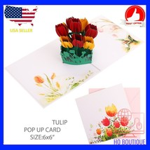 3d pop up vintage happy birthday greeting card handmade gift with blank ... - $14.00