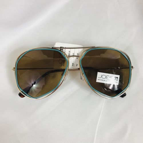 70a763794f 12. 12. Previous. New Joe s Jeans Womens Designer Gold Aviator Green Trim  Sunglasses  98. New Joe s Jeans ...