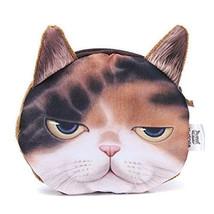 UK 3D Dog/cat Face Print Mini Coin Bag Wallet Pocket Women Purse Eye Zip... - $4.23